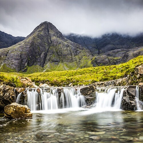 Fairy Pools auf der Isle of Skye in Schottland.